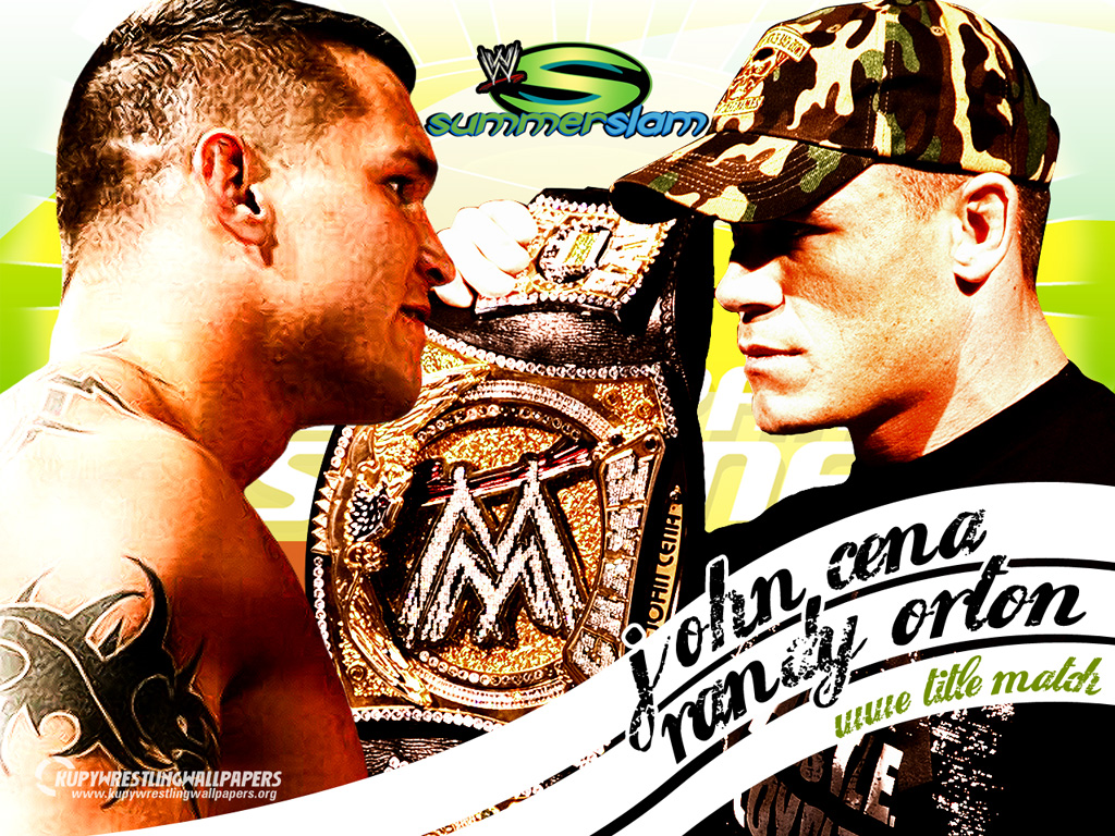 WWE SummerSlam 2007-Randy Orton vs John Cena