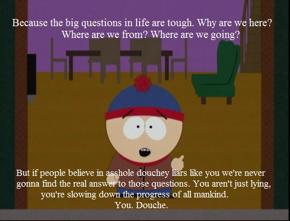 South Park Stan quote about psychics