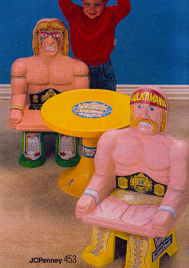 wwf-hulk-hogan-and-ultimate-warrior-chair-chairs-and-table-set