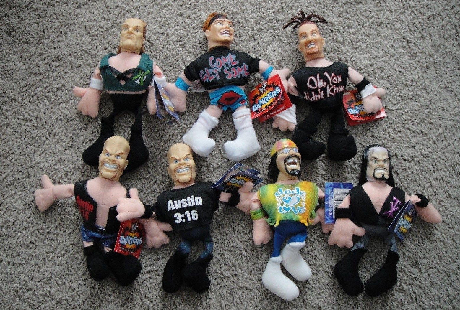 WWF group of Banger dolls