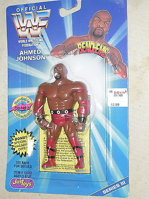 Ahmed Johnson Bend 'Em figure on card