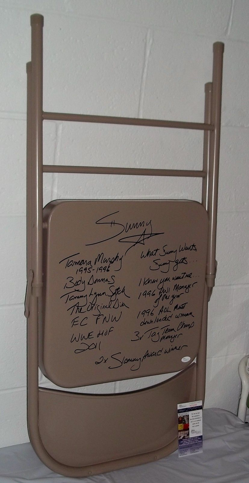 Sunny Tammy Sytch autographed chair 1