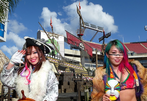 headlies kairi sane steals pirate ship from raymond james stadium wrestlecrap the very worst of pro wrestling wrestlecrap