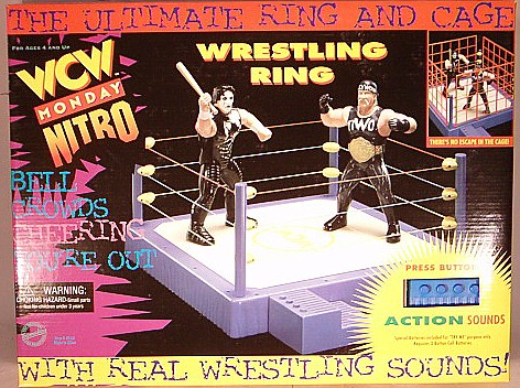 WCW Monday Nitro ring and cage toy