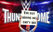 """Headlies: Fan Appearing On """"WWE ThunderDome"""" Blocked By Other Fan's Sign"""