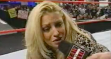 Induction: Trish barks like a dog – McMahon's breast friend
