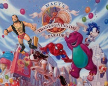 INDUCTION: The WWF Invades the Macy's Day Parade – But No Gooker?  For Shame!